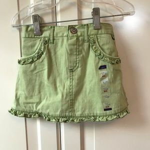 CHILDRENS PLACE green denim skirt